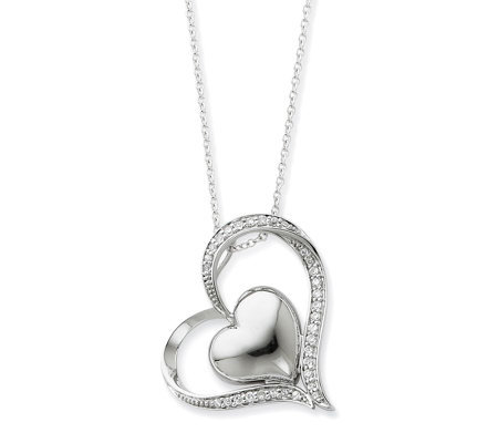 "Sentimental Expressions Sterling 18"" In My Heart Necklace"