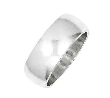 Sterling 8mm Polished Half Round Ring