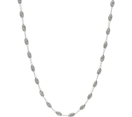 "UltraFine Silver 20"" Diamond Cut Bead Necklace 5.6g"