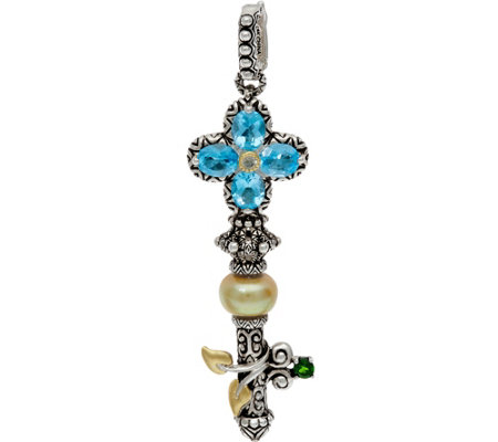 Barbara Bixby Sterling Silver & 18K Gold Gemstone Key Enhancer