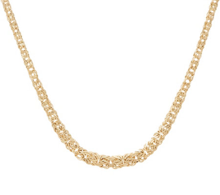 "14K Gold 18"" Graduated Byzantine Necklace, 6.2g"