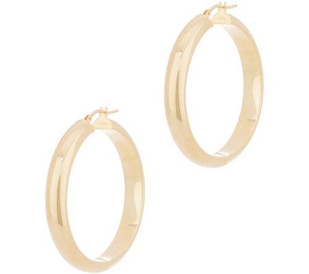 Italian Gold 1 2 Polished Hoop Earrings 14k