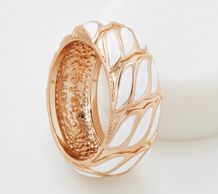 Grace Kelly Collection Woven Enameled Band Ring