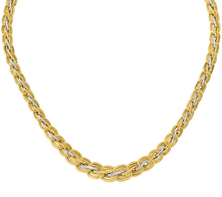 14K Gold Two-tone Wavy Necklace, 12.0g