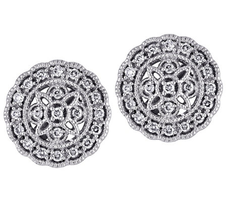 Affinity 14K 1/5 cttw Diamond Round Vintage Stud Earrings