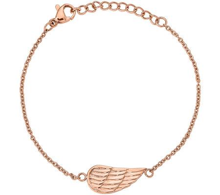 Steel By Design Angel Wing Bracelet Qvc