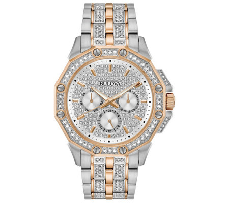 Bulova Men's Octava Two-Tone Crystal Multi-Function Watch