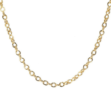 Italian Gold Polished Double Link 16 Chain 14k 3 3g