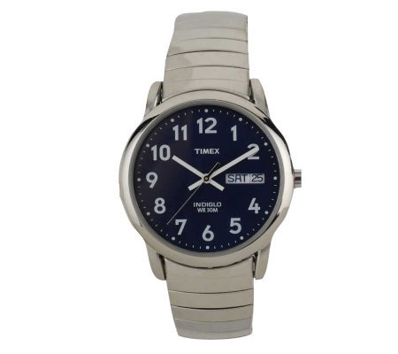 Timex Men's Easy Reader Watch with Expansion Band & Blue Dial