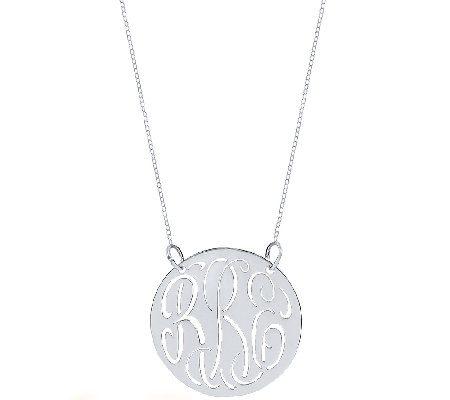 Sterling 7 8 Cutout Monogram Necklace