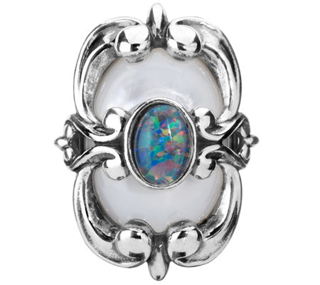 Carolyn Pollack Opal and Mother of Pearl Magnetic Insert
