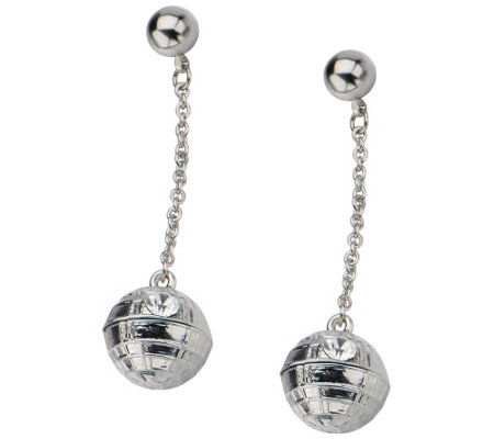 Star Wars Stainless Death Star Dangle 3D Earrings