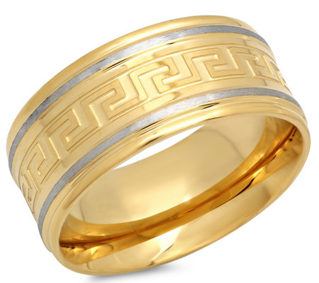 Forza Men's Stainless Greek Key Band Ring