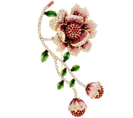 Joan Rivers Limited Edition Blossoming Flower Brooch