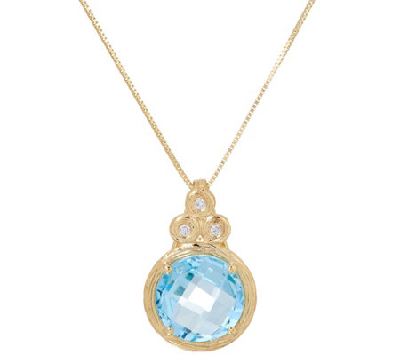 Adi Paz Round Gemstone & Diamond Necklace, 14K