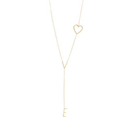 Jz By Jennifer Zeuner Sterling Or 18k Plated 24 Love Lariat Necklace