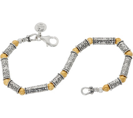 Or Paz Sterling Two-tone Bead Bracelet