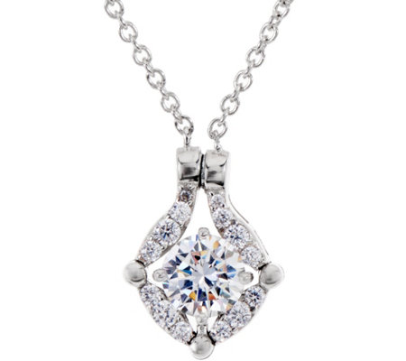 """As Is"" Diamonique Convertible Necklace, Platinum Clad"