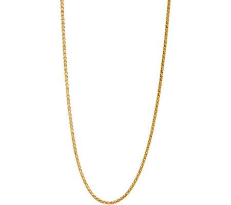 Italian Gold 36 Bold Round Box Chain 14k 22 2g