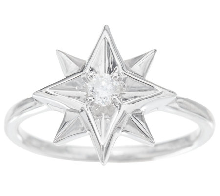 Affinity Diamond 1/10 cttw Horoscope Ring, Sterling Silver — QVC com