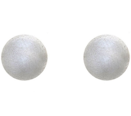 Sterling Silver 8mm Satin Finish Ball Stud Earring