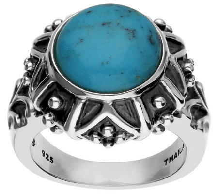 Elyse Ryan Sterling Silver Turquoise Ring