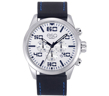 ESQ Men's Multi-Function Stainless Steel Watch,White Dial