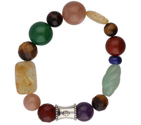 "Elyse Ryan Sterling Deep Gemstone ""Wrist Rocks""Bracelet"