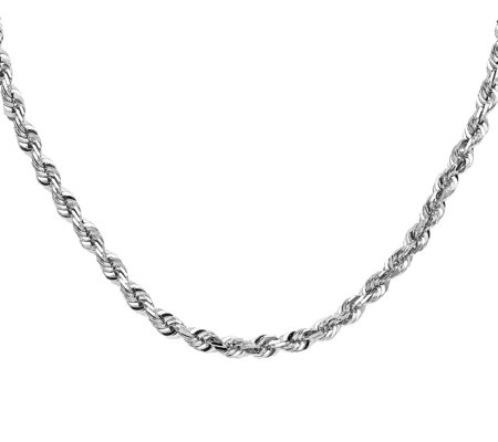 "14K Diamond-Cut Rope 22"" Necklace, 57.0g"
