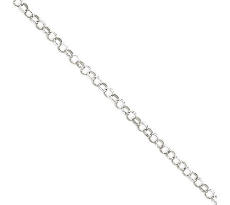 Sterling 2mm Rolo Chain Anklet