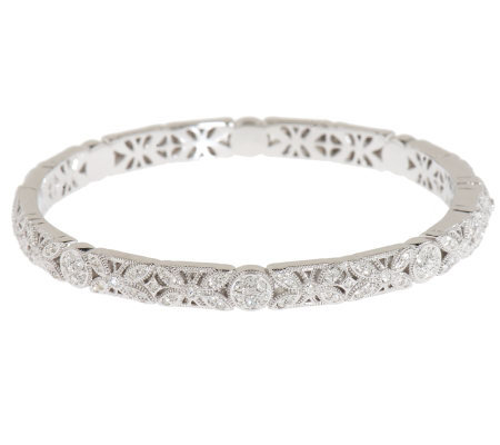 Nadri Erfly Design Hinged Bangle Bracelet