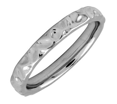 Simply Stacks Sterling Black Rhodium-Plated 3.25mm TextureRing