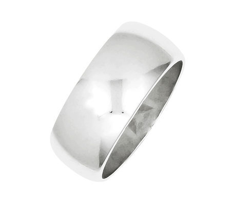 Sterling 9mm Polished Half-Round Ring
