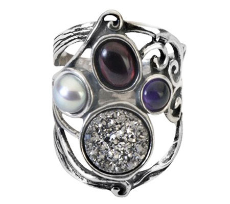Or Paz Sterling Multi-Gemstone Ring