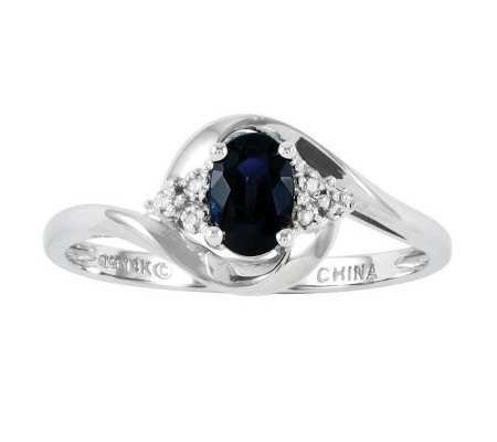 Polished Birthstone Ring, 14K White Gold