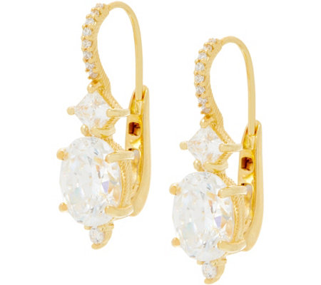 Judith Ripka Sterling or 14K Clad Diamonique Earrings