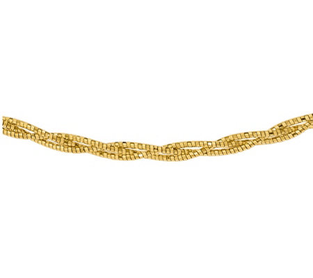"14K Diamond-Cut Braided 18"" Necklace, 7.7g"