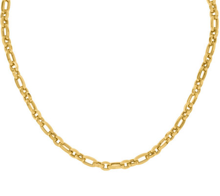 14K Chunky Rolo & Oval Link Necklace, 9.9g