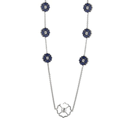 Lauren G Adams Colored Enamel Flower Station Necklace