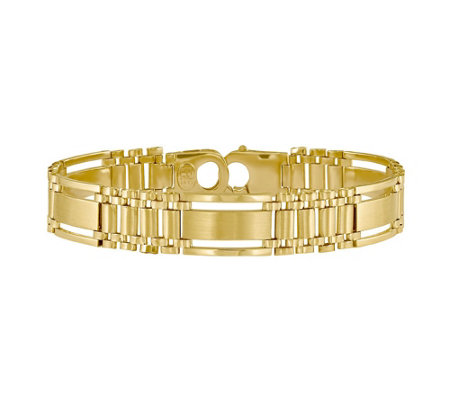 Italian Gold Polished Satin Multi Link Bracelet 14k 23 1g