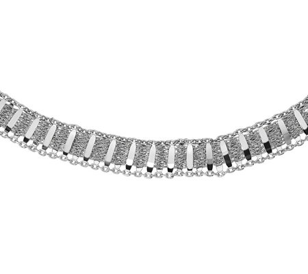 "Italian Silver 18"" Mesh Necklace, 12.8g"