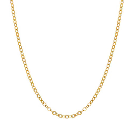 "EternaGold 18"" Brilliantina Chain Necklace, 14KGold, 1.6g"