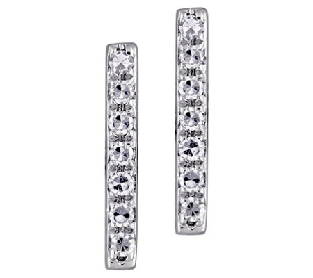 Affinity 14k Diamond Bar Stud Earrings