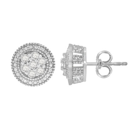 Sterling 1/7 cttw Diamond Earrings