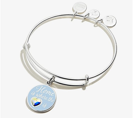 Alex and Ani Home Is Where The Heart Is Charm Bangle