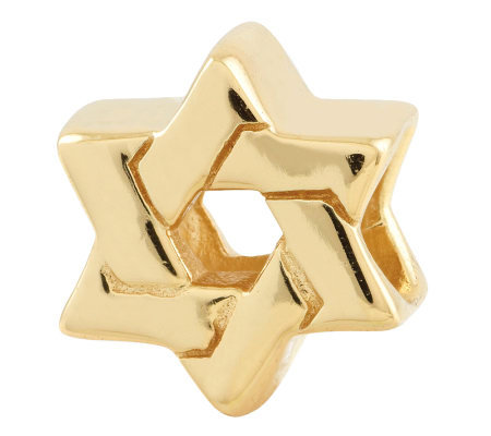 Prerogatives Gold-Plated Sterling Star of DavidBead