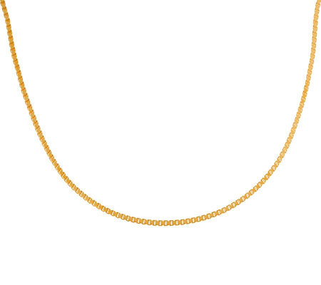 "Veronese 18K Clad 30"" Polished Box Chain"