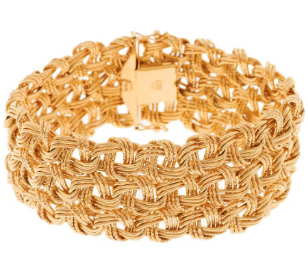 Vicenza Gold 7 1 4 Bold Woven Bracelet 14k 25 3g