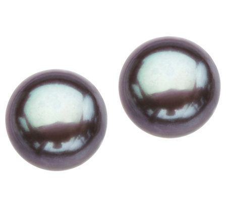 Honora Sterling 9.0mm - 9.5mm Cultured Pearl Button Earrings