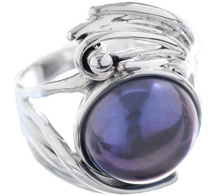 Hagit Sterling Peacock Cultured Pearl SculptedRing